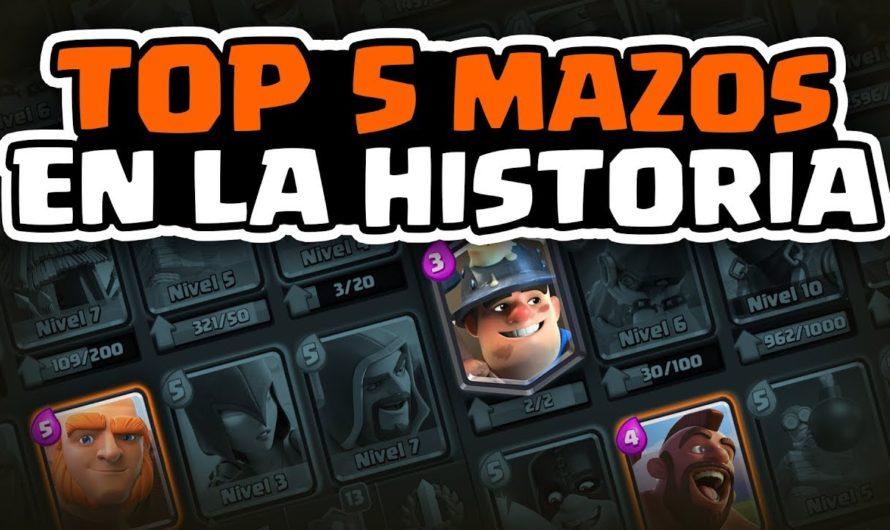 TOP 5: LOS MEJORES MAZOS DE LA HISTORIA EN CLASH ROYALE  | Malcaide