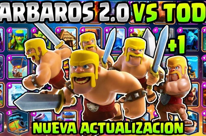 NUEVOS BÁRBAROS 2.0 vs TODAS LAS CARTAS | IMPARABLES?  – RETO CLASH ROYALE