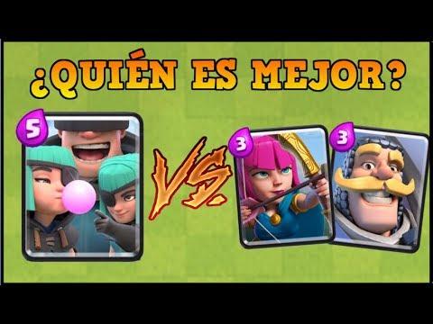 PILLOS vs CABALLERO Y ARQUERAS   CLASH ROYALE   Batalla