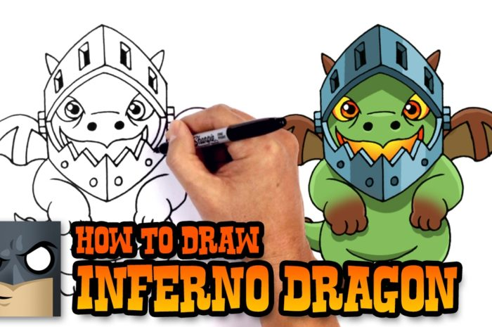 How to Draw Clash Royale Inferno Dragon