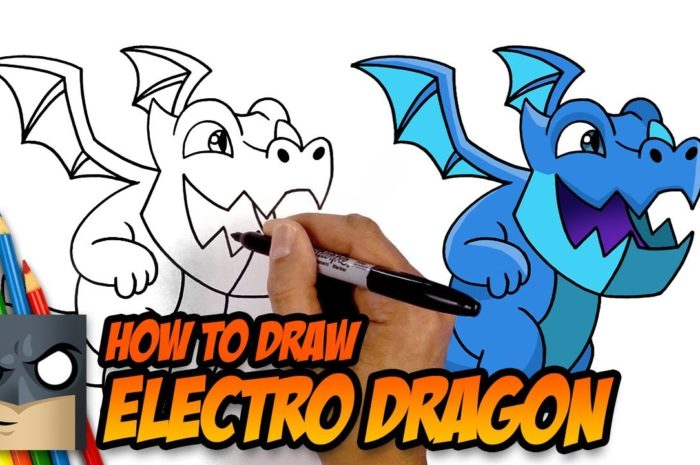 How to Draw Clash Royale ELECTRO DRAGON