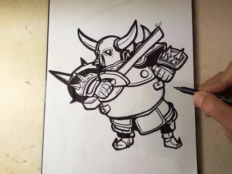 COMO DIBUJAR A PEKKA — CLASH ROYALE / how to draw pekka