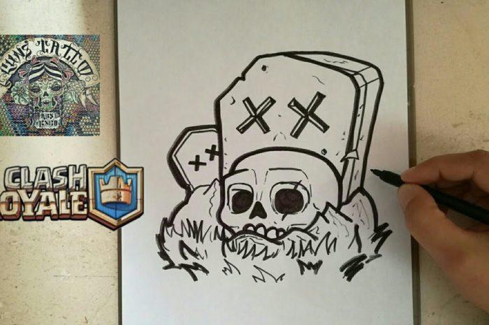COMO DIBUJAR EL CEMENTERIO – CLASH ROYALE / how to draw graveyard