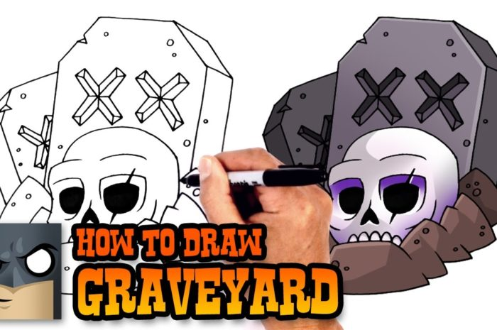 How to Draw Clash Royale | Graveyard