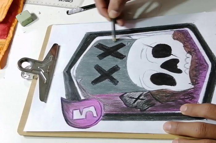 Como dibujar la carta del cementerio de – Clash Royale