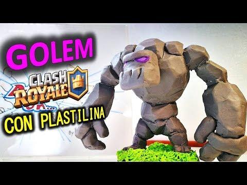 Como hacer un GOLEM (CLASH ROYALE) con plastilina. DIY How to Make GOLEM in CLAY (Clash of Clans)